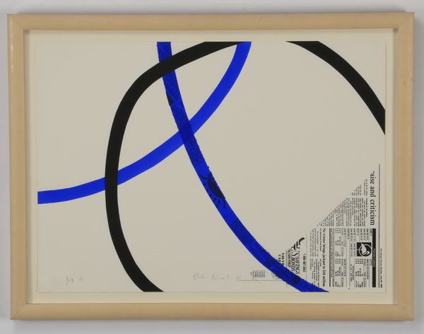 Cloti Ricciardi signed, numbered, dated screenprint