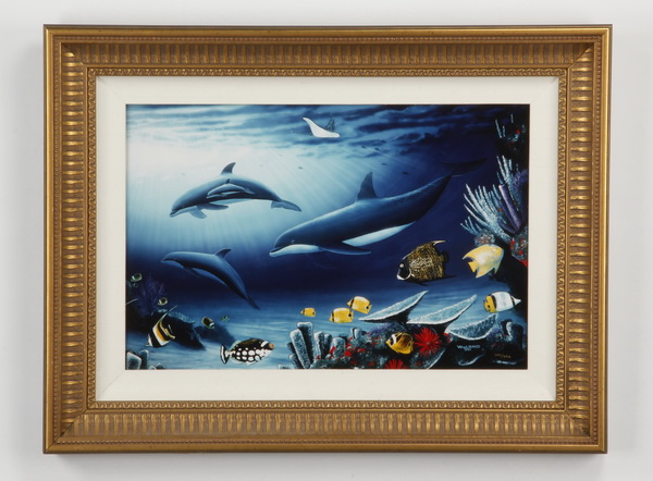 Robert Wyland signed, numbered sea life lithograph