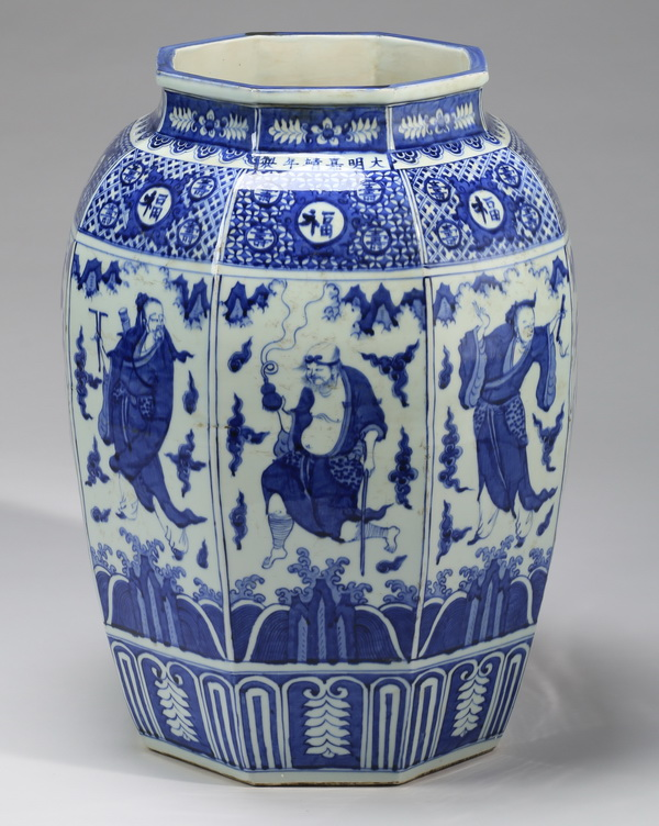 Large Chinese Ming-style 'Eight Immortals' jar, 25