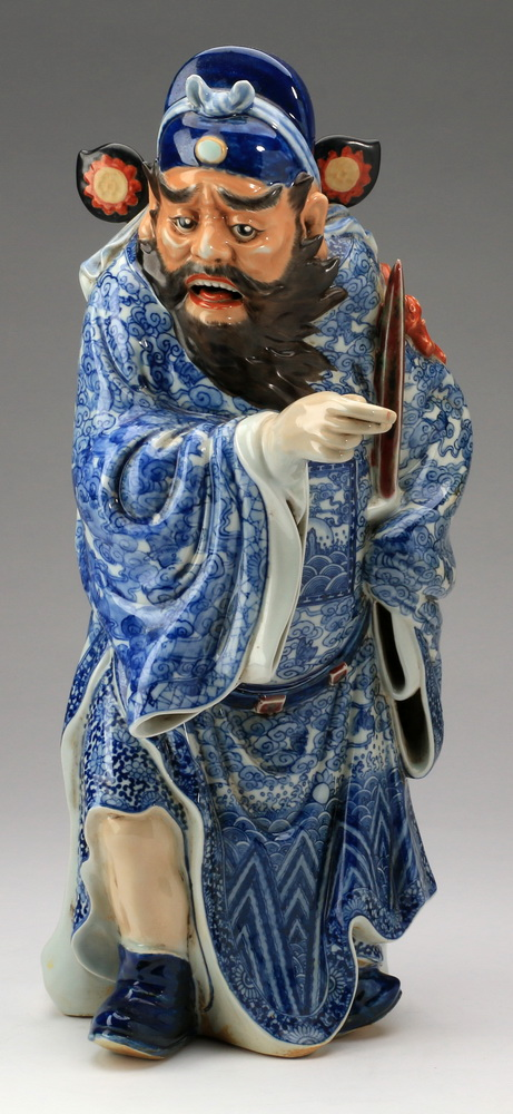 Chinese porcelain figure of Zhong Kui, 18