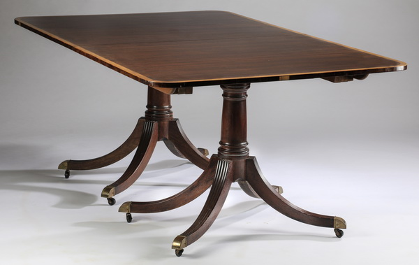 George III style two-leaf mahogany table