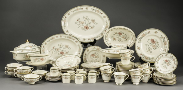 100 Piece set of Minton china, Jasmin pattern