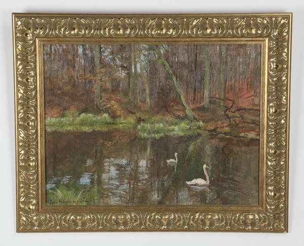 Leon Houyoux O/c landscape, 1930, 33
