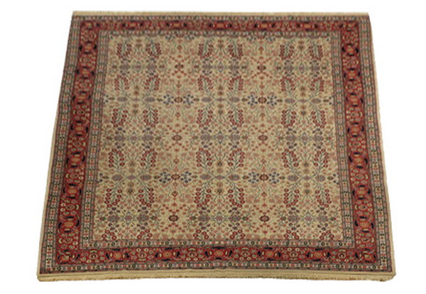 Hand knotted Turkish Hereke wool rug, 12 x 8