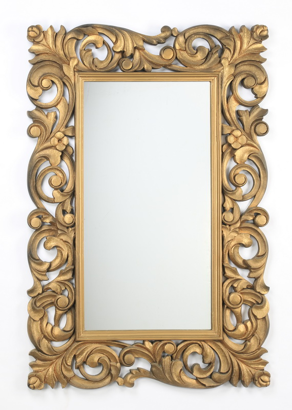 Rococo inspired carved mirror, 39