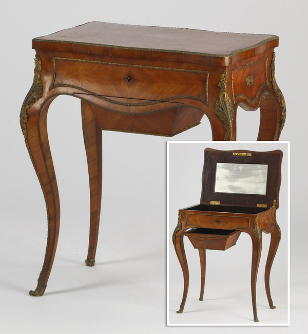 French satinwood dressing table, 19th c.