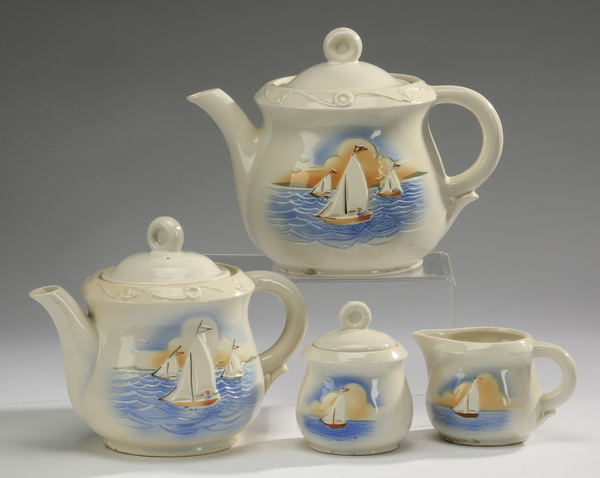4-Piece 'Porceliers' tea service