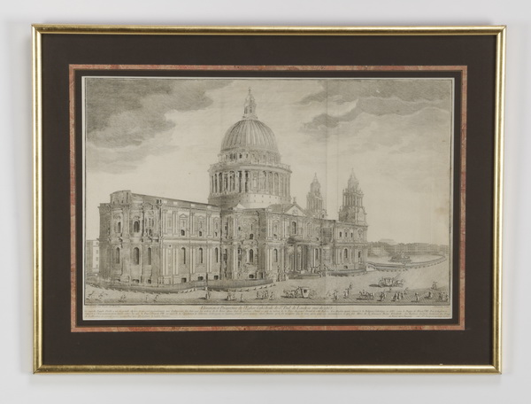 18th c. French engraving of St. Paul's Cathdedral