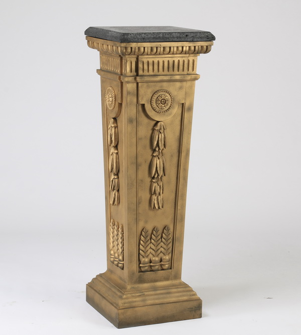 Neoclassical style painted pedestal, 50