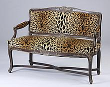 19th c. French oak settee