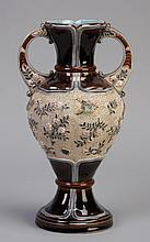 Early 20th c. French majolica vase