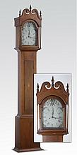 19th c. American tall case clock