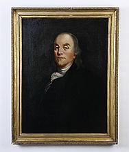 Late 19th c. portrait of Benjamin Franklin