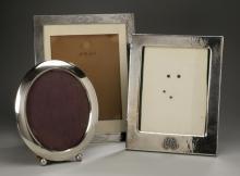 (3) Sterling silver frames, one Black, Starr & Frost
