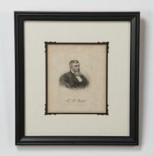 19th c. engraving of Chief Justice Morrison Waite