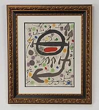 Joan Miro abstract lithograph, signed