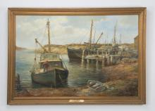 Wendell Rogers O/c, 'Gloucester Harbor,' signed
