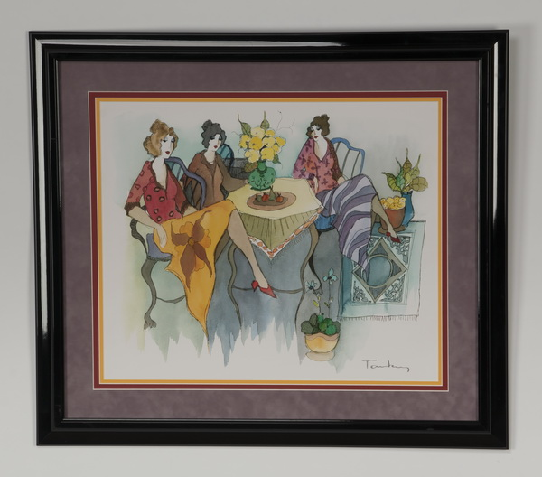 Itzchak Tarkay signed serigraph 'Blissful Moments'