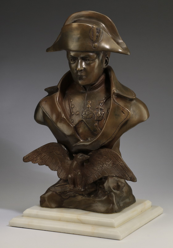 Bronze bust of Napoleon Bonaparte, 19th c., 22