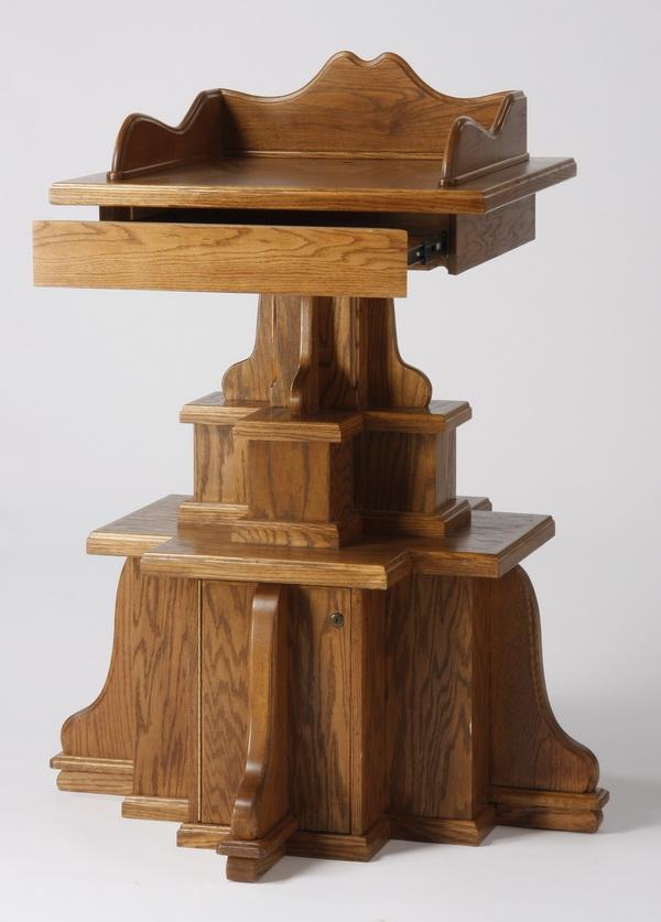 American oak lectern, 50