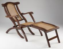 Vintage French ocean liner-style deck chair, 57