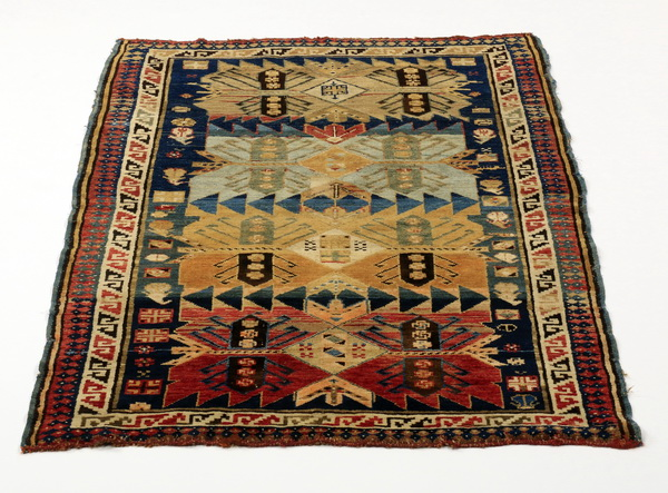Hand-knotted Caucasian wool rug, 5 x 3