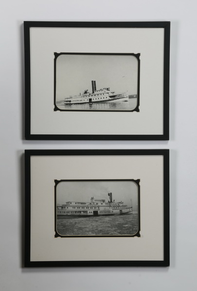 (2) Framed photos, Hudson River steamer 'Onteora'