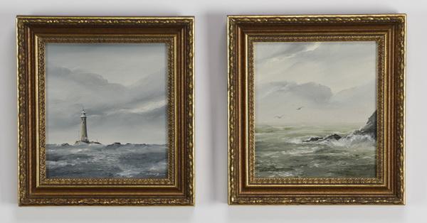 (2) David James signed O/c English coastal scenes