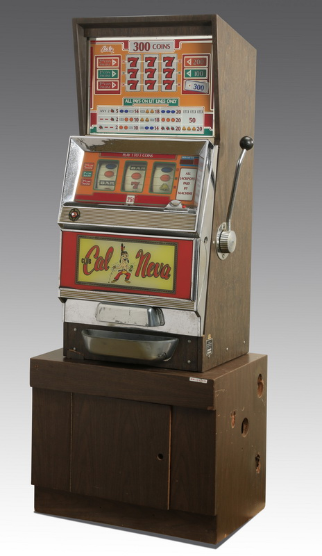 'Club Cal Neva' Bally slot machine w/stand, 68