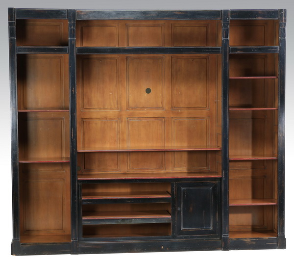 Contemporary ebonized wall unit, 95