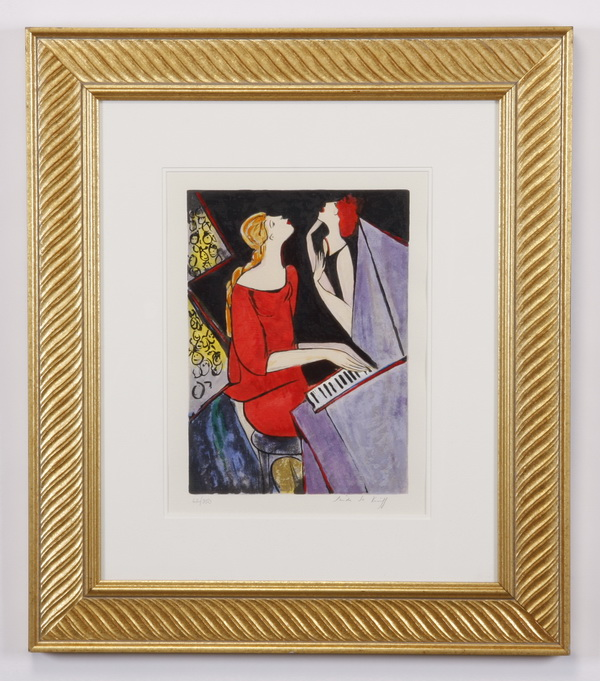 Linda LeKinff signed, numbered lithograph