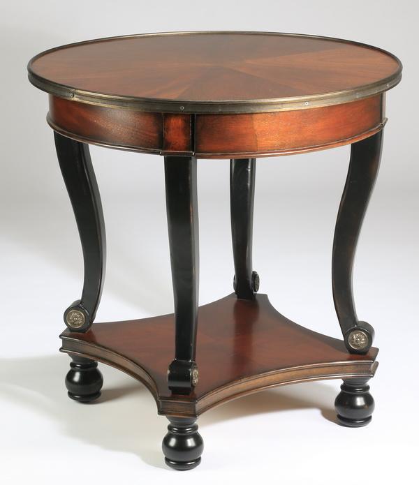 Empire style mahogany side table 28.5