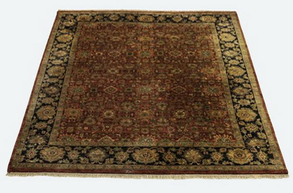 Hand-knotted Sino-Mashad wool rug, 12' x 8.5'