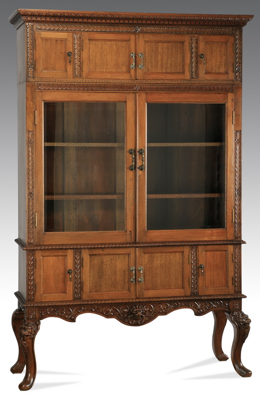 French Provincial style two-part cabinet, 79.5