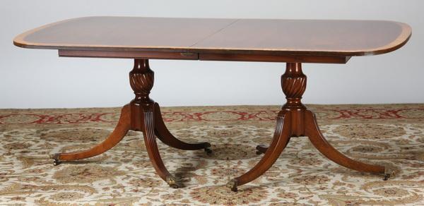 19th c. Sheraton style mahogany table