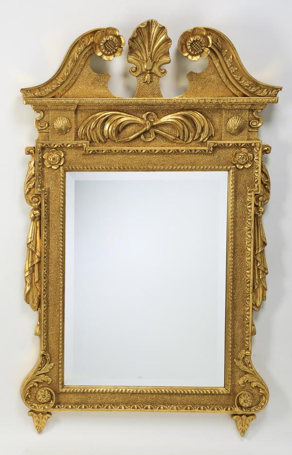 Federal style gilt wood mirror, 57