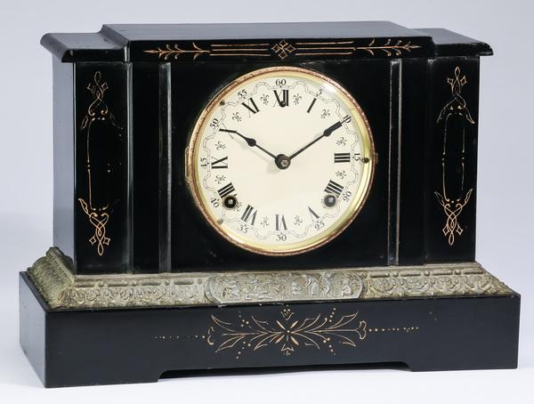 Sessions iron mantel clock, circa 1900, 15