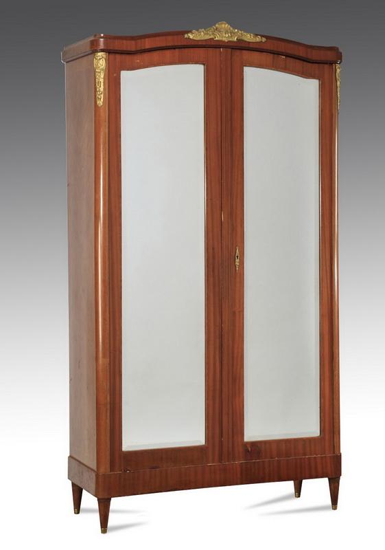 Louis XVI style two-door walnut armoire, 91