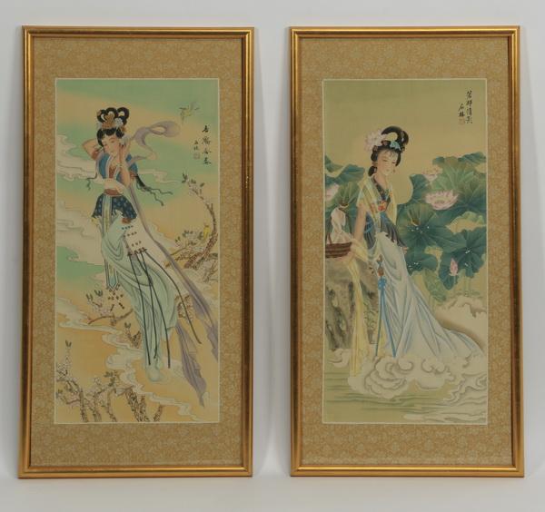 (2) Chinese paintings of celestial beauties, 26