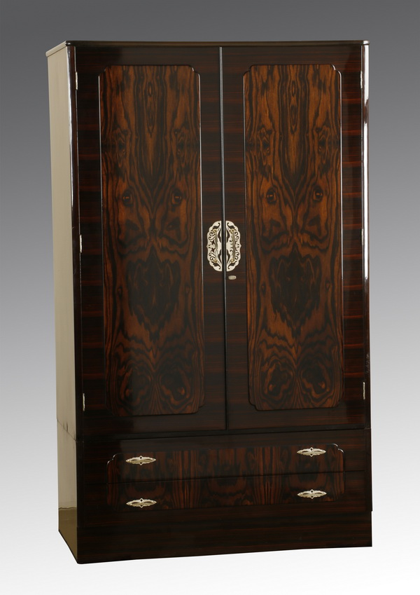 Mid 20th c. rosewood veneered wardrobe