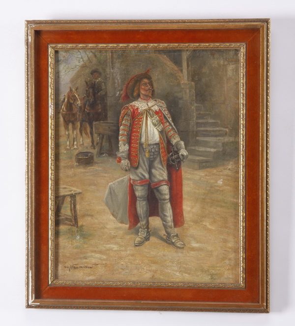 Eugene Chaperon signed Musketeer O/c, 19th c.