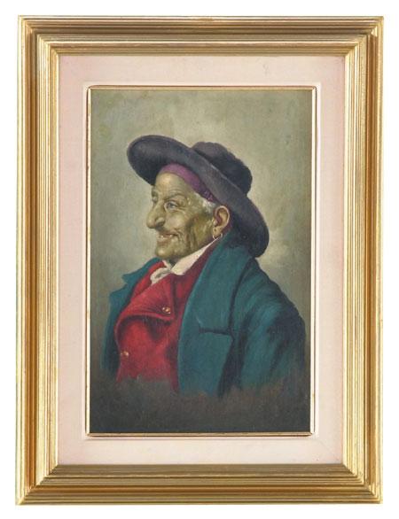 19th c. O/c Italian portrait, 22