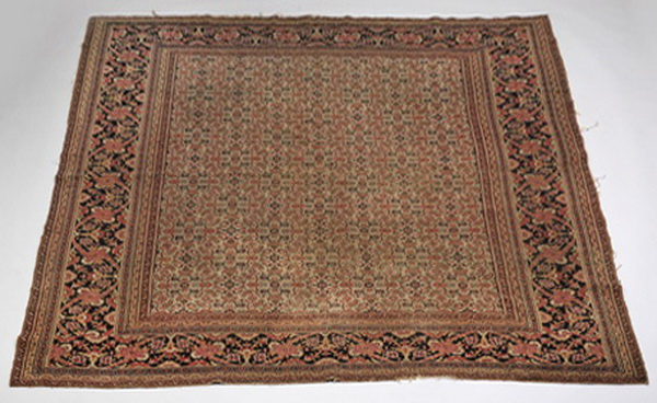 Antique Persian hand knotted Tabriz rug, 9 x 8