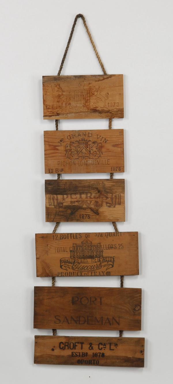 French wine sign wall hanging