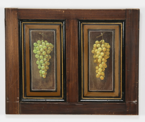Architectural panels hand painted w/ grape clusters