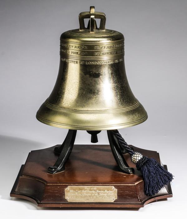 Bronze Bicentennial model of the Liberty Bell, 9