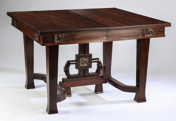Mid 20th c. Italian carved walnut table