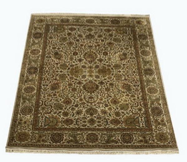 Hand knotted Sino-Tabriz wool rug, 9' x 13