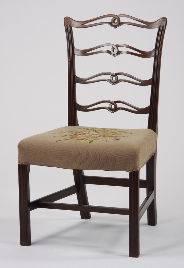 Early 20th c. needlepoint upholstered chair