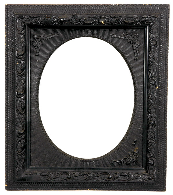 19th c. carved and ebonized frame